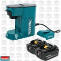 Makita BL1840B-2 Cordless Coffee Maker PLUS TWO 18V LXT 4.0 Lithium-Ion Batt