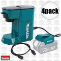 Makita DCM500Z 4pk Cordless Coffee Maker 18volt LXT or 115volts cord powered