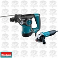 "Makita HR2811FX 1-1/8'' SDS-PLUS Rotary Hammer w/ 4-1/2"" Angle Grinder"