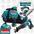 Makita LXT407X1 4 pc 18 Volt LXT Lithium-Ion Kit