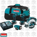 Makita LXT437 18V LXT Lithium-Ion 3.0 Ah Cordless Power Tool Combo Kit