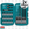 Makita T-01373 2x 38pc Impact Drill-Driver Bit Set