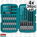 Makita T-01373 4x 38pc Impact Drill-Driver Bit Set