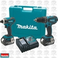 Makita XT211 18 Volt 2 Piece LXT Combo Kit w/ 3.0 Ah Batteries