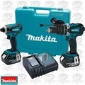 Makita XT218 18 Volt Hammer Drill Driver/ Impact Driver TWO 3.0Ah FAT PACKS