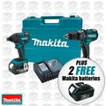 Makita XT248-X1 Brushless 2 Pc Combo Kit + 2 FREE 18V Makita Batteries
