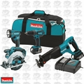 Makita XT406 18V LXT Li-Ion Cordless 4pc Combo Kit w/ 3.0Ah Batteries