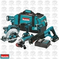 Makita XT601 6 Tool 18 Volt LXT Lithium-Ion Combo Kit