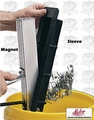"Malco MS12 12"" Wide 34.5"" Handle Magnetic Debris Sweep"