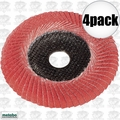 "Metabo 626461000 4pk 5"" x 7/8 P80 80 Grit Ceramic Convex Flap Disc"