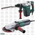 """Metabo KHE5-40 10.3A SDS-MAX 1-9/16"""" Rotary Hammer+ Flat Head Grinder"""