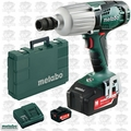 "Metabo US602198550 18V LTX 5.5Ah Li-Ion 1/2"" Sq-Dr Impact Wrench Kit"