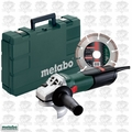 Metabo W9-115 KIT 4-1/2'' 8.5amp Angle Grinder w/ Case and Diamond Wheel