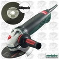 "Metabo WE14-150 Quick 6"" Angle Grinder + 50pc Slicer by Metabo 55339"