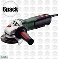 "Metabo WP9-115 Quick 6pk 4-1/2"" 8 AMP Angle Grinder w/ Non-Locking Paddle"