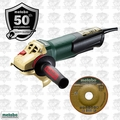"Metabo WP9-115QUICK Anniversary Edition 4.5"" 8A Angle Grinder Paddle Switch"