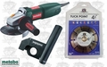 Metabo WQ1000 8.5A Tuck Point Grinder + Dust Director Guard + Blade