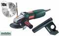 Metabo WQ1000 Tuck Point Kit + 10 Sandwich wheels + Dustless Guard