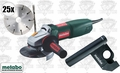 "Metabo WQ1000 5"" Tuck Point Kit + 25 Sandwich wheels + Dustless Guard"