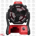 Milwaukee 0886-20 Jobsite Fan M18 Batteries or 115 ac wall plugin