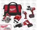 Milwaukee 0928-29 M28 Lithium-Ion 4 Tool Combo Kit