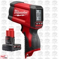 Milwaukee 2278-20 M12 12:1 Infrared Temp-Gun w/ M12 4.0Ah XC Battery