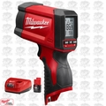Milwaukee 2278-20 M12 12:1 Infrared Temp-Gun w/ M12 Battery + Charger
