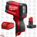 Milwaukee 2278-20 M12 Infrared Temp-Gun w/ M12 4.0Ah XC Batt + Charger