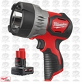 Milwaukee 2353-20 TRUEVIEW M12 LED Cordless Spotlight with XC 4.0Ah Battery