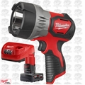 Milwaukee 2353-20 TRUEVIEW M12 LED Spotlight with XC 4.0Ah Batt + Charger