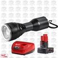 Milwaukee 2355-20 M12 LED Flashlight w/ XC 4.0Ah Battery + Charger