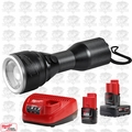Milwaukee 2355-21 M12 LED Flashlight w/ 4.0Ah 1.5Ah Batteries + Charger