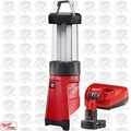 Milwaukee 2362-20 M12 LED Lantern/Flood Light w/ XC 4.0Ah Battery + Charger
