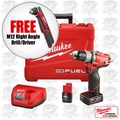 "Milwaukee 2403-22 M12 FUEL 1/2"" Drill/Driver Kit + FREE Right Angle Drill"