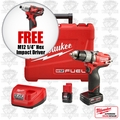 "Milwaukee 2403-22 M12 FUEL 1/2"" Drill/Driver Kit + FREE 1/4"" Hex Impact"