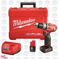 "Milwaukee 2404-22 12V M12 FUEL 1/2"" Hammer Drill/Driver Kit 2xBatt Kit OB"