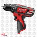 "Milwaukee 2407-20 M12 3/8'"" Drill Driver (Tool Only)"