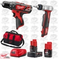 "Milwaukee 2408-20 M12 3/8"" Cordless Hammer Drill/ProPEX Expansion Tool Kit"