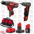 "Milwaukee 2408-20 M12 3/8"" Hammer Drill/ProPEX Expansion Tool Kit"
