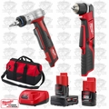 "Milwaukee 2415-20 M12 3/8"" Right Angle Drill Driver/ProPEX Expansion Tool Kit"