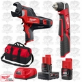 "Milwaukee 2415-20 M12 Cordless 3/8"" Right Angle Drill/Cable Cutter Kit"