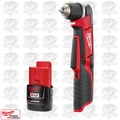 "Milwaukee 2415-20 M12 Cordless 3/8"" Right Angle Drill Driver Kit"