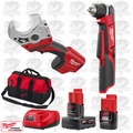 "Milwaukee 2415-20 M12 3/8"" Right Angle Drill Driver/PVC Shear Kit"