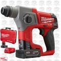 "Milwaukee 2416-22XC 5/8"" M12 FUEL SDS Plus Rotary Hammer + 2 Batt Kit"