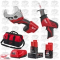 Milwaukee 2420-20 M12 HACKZALL Recip Saw/Cordless PVC Shear Kit