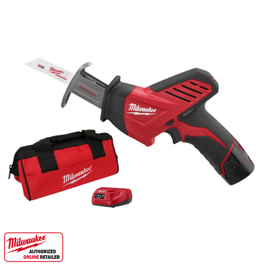 Milwaukee 2420 21 12 V Hackzall M12 Reciprocating Saw Kit