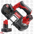 Milwaukee 2429-20 M12 Cordless Sub-Compact Band Saw with XC 4.0Ah Battery