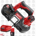 Milwaukee 2429-20 M12 Sub-Compact Band Saw w/ 2.0Ah Battery + Charger
