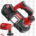 Milwaukee 2429-20 M12 Sub-Compact Band Saw w/ XC 4.0Ah Batt + Charger