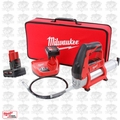 Milwaukee 2446-21XC-B1 12-Volt Cordless Lithium-Ion Grease Gun 2 Batt Bundle